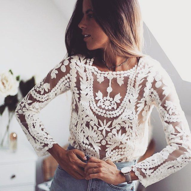 We LOVE Nina in our Palawan Lace Top