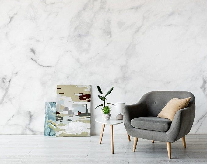 Gray Brick Peel And Stick Modern Farmhouse Wallpaper Nu1653 Etsy Living Room Murals Marble Wall Mural Room Wall Decor