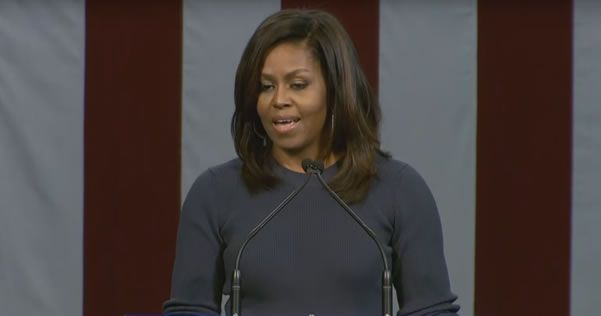 """Michelle Obama got up on stage and told the world how shocked she was at the awful things Donald Trump said. """"I have to tell you that I can't stop thinking about this. It has shaken me to my core …"""