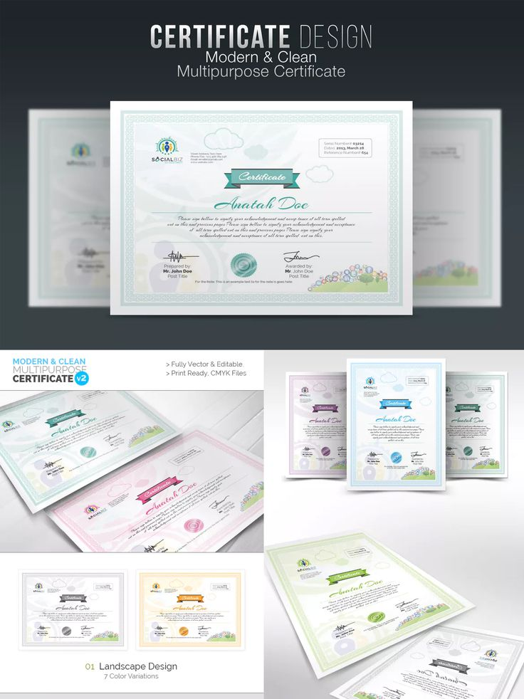 53 best certificate templates images on pinterest multipurpose creative certificate template eps yadclub Gallery