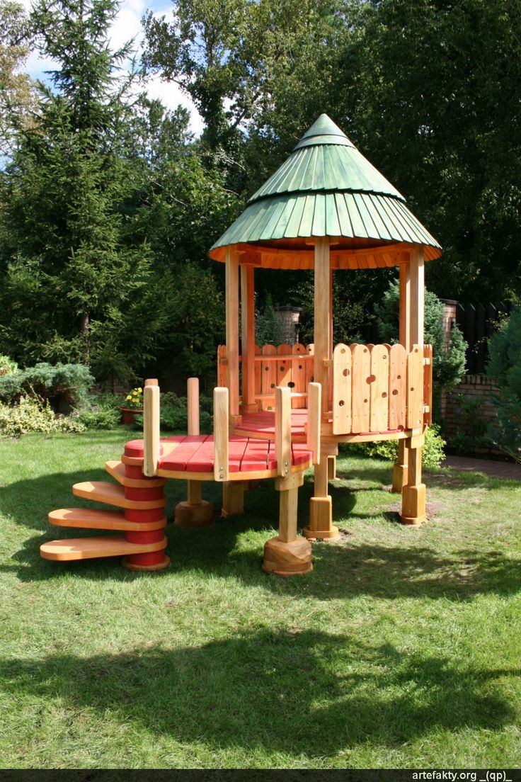 Playscapes! Playhouse IdeasWooden PlayhousePlay StructuresPlayground  IdeasKid ...