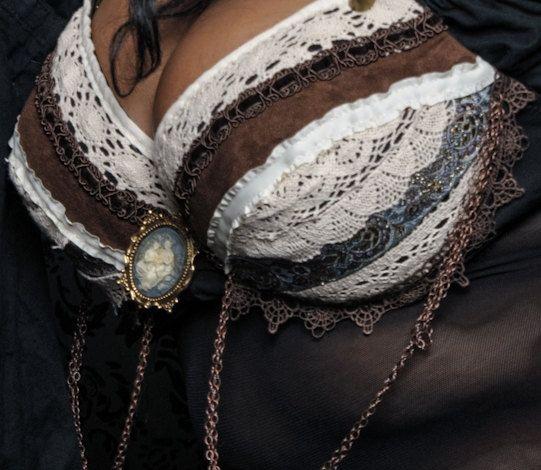 Sujetador de danza del vientre fusión Tribal por MadDanceDesigns