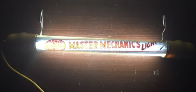 VTG Master Mechanics Light True Value Hardware Drop Light Man Cave Advertising | eBay