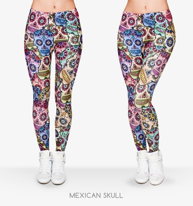 Leggings Crânio Mexicana Fitness