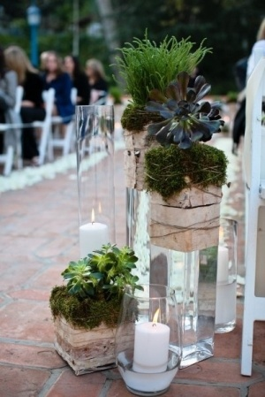 Trend No. 10 Bark: Birch and Moss wrapped vases