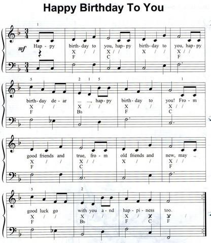 """Hat jemand das Lied """"Happy Birthday"""" mit Noten für das Altsaxophone?? (Saxophone, Lieder)"""