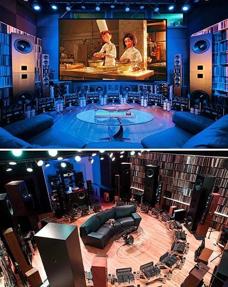 Home Theater - Ultimate Install        Favorite pieces:      . 30 - McIntosh MC-2102 Stereo Vacuum Tube Amplifiers (operating in Bridged-Balanced Mode) - 440 Class A Watts Each    .    ELP Laser Turntable - Plays LPs, 45s, & 78s using five lasers to read the grooves - all analog line-level playback