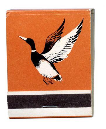 flying duck orange matchbook