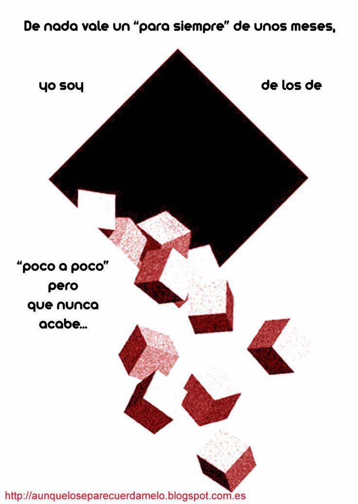 """EL MAR NO CESA #blog #frases #ilustracion #reflexiones (de nada vale un """"para siempre"""" de unos meses, yo soy de los de """"poco a poco"""" pero que nunca acabe)  Basado en una obra de Alex Fregon"""