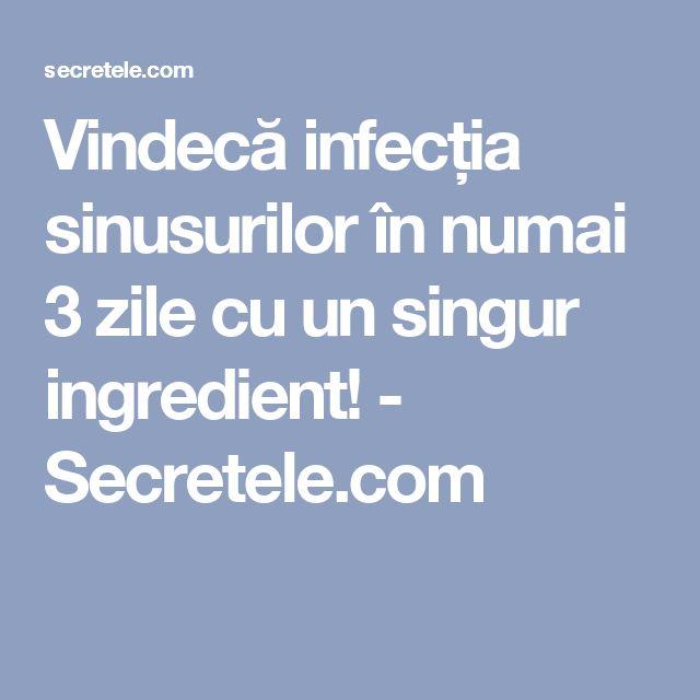 Vindecă infecția sinusurilor în numai 3 zile cu un singur ingredient! - Secretele.com