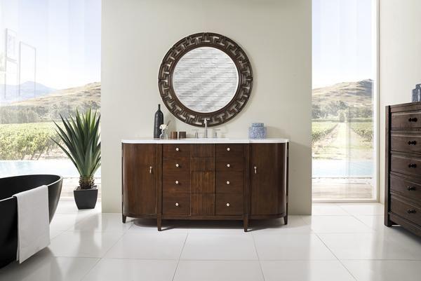 """Melbourne 68"""" James Martin Warm Espresso Bathroom Vanity"""