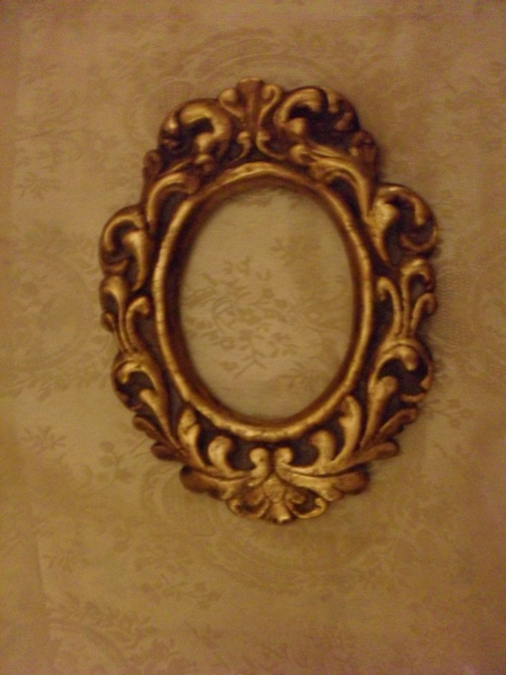 Old World antique style small frame, gilded and aged - Art by Jorge A. Porto