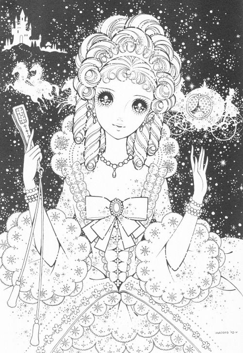 798 best images about coloring pages shojo anime on - Adult manga 2 ...