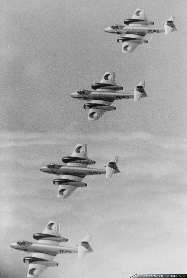 "Netherlands Aerobatic team ""Diamonds Four"" Meteor F8"