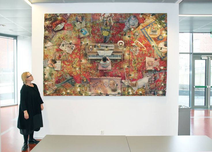 Annika Ekdahl has finished weaving FOLLOW ME. Two very large amazing tapestries. Congrats! It took her 3.5 years to weave them both. Outstanding work.