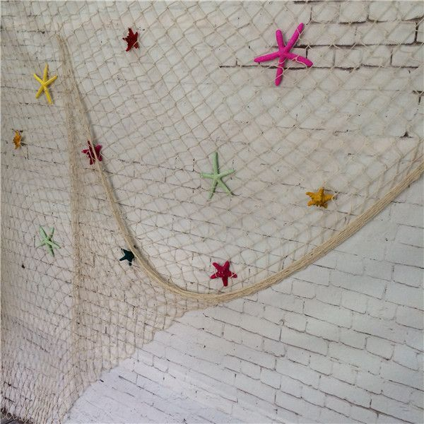 Mediterranean Style Fish Net Nautical Decor 3D Stickers Fishing Nets Wall Hang Decorations Crafts