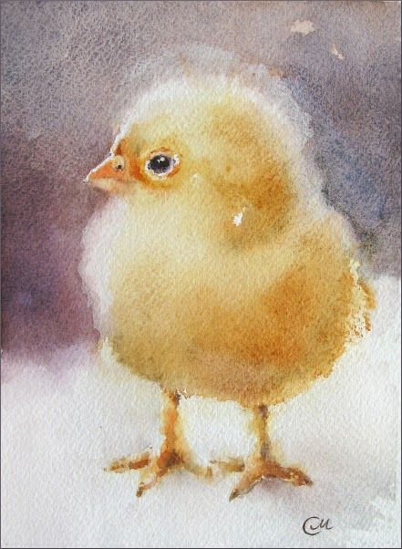 Watercolors by Maria Stezhko (Акварели Марии Стежко): Baby Chick