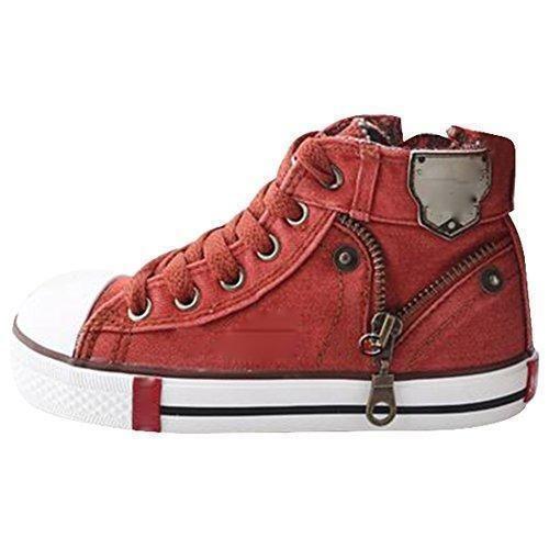 Oferta: 12.99€. Comprar Ofertas de Highdas Niños Zapatos Lona Respirables Deporte Muchachos ZapatilDeporte para Niños Jeans Denim Niños botas planas, Orange 26 barato. ¡Mira las ofertas!