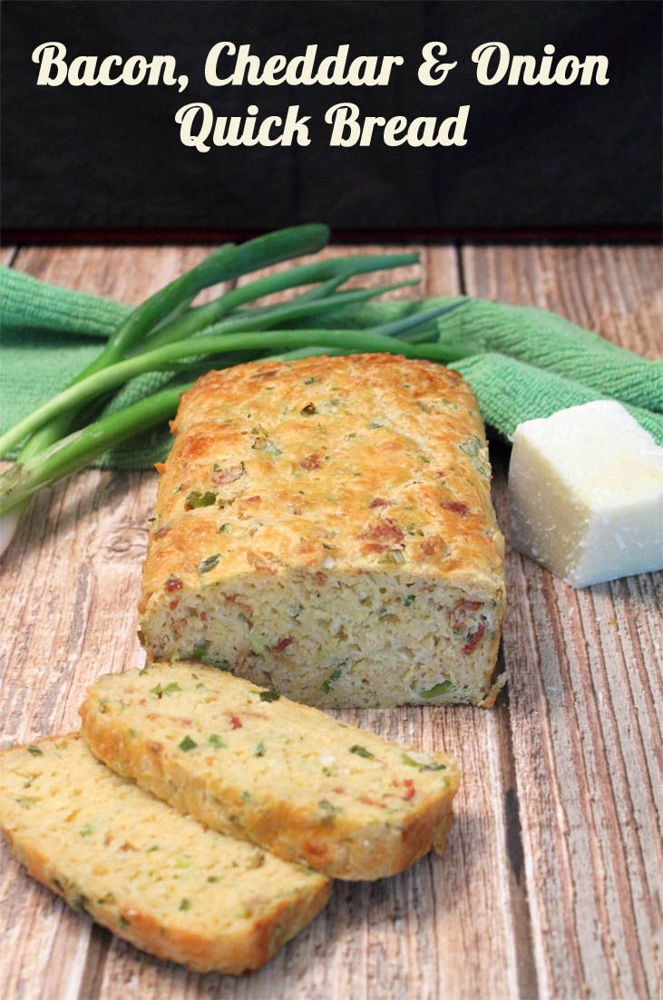 Bacon Cheddar and Onion Quick Bread | Recipe | Cooking, Bacon and ...