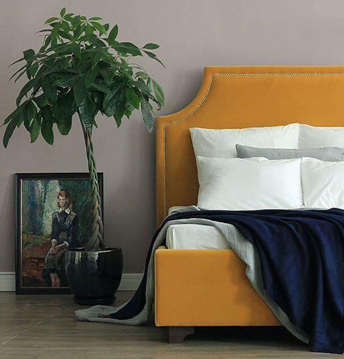 Кровать Castle Fog Yellow