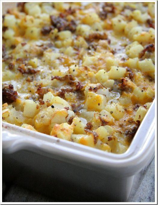 Cheesy Potato Breakfast Casserole - Yummyship