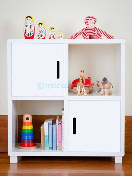 mocka 4 cube storage unit great storage option for kidu0027s rooms the doors add colour and the shelves are easily used for displaying treasures