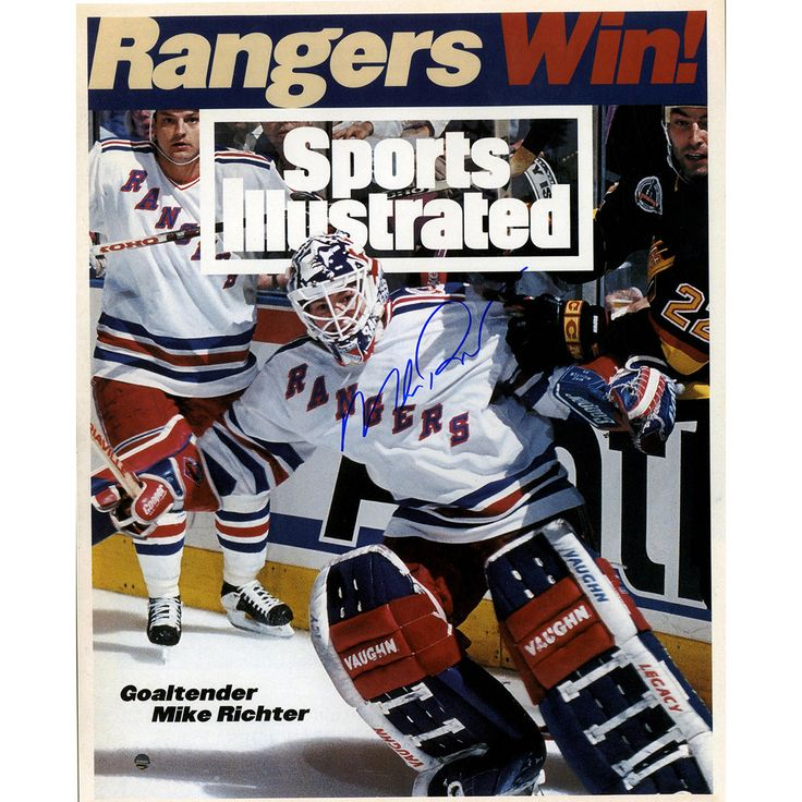Mike Richter Sports Illustrated Rangers Win! Signed 16x20 Photo