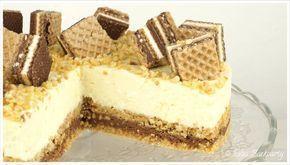 Die knusprige Knoppers - Torte ist ein tolles Geschmackserlebnis. Sie besteht aus einem dreischichtigen knusprigen Boden und einer lockeren weißen Schoko...