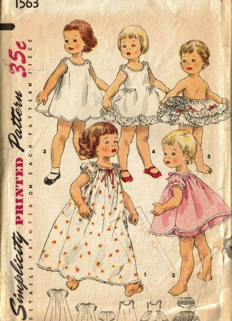 1454 Best Vintage Girls Sewing Patterns Images On