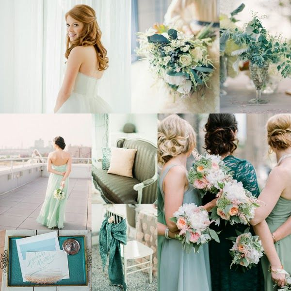 Sea Glass Wedding Colors | Sea Glass Mint and Teal