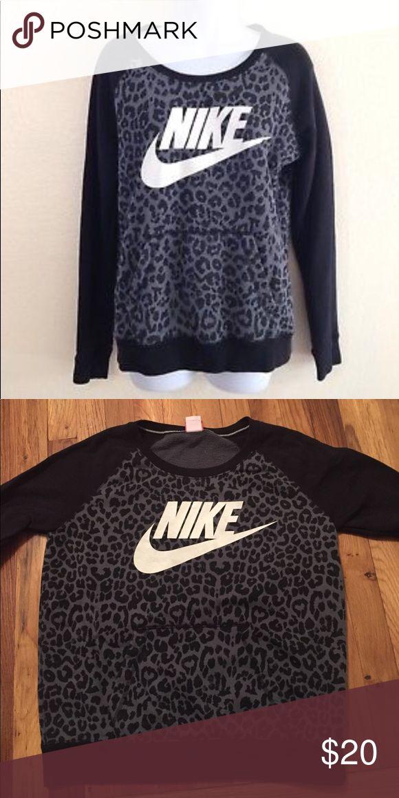 Black and white leopard print Nike sweater Black and white leopard print Nike sweater Nike Sweaters