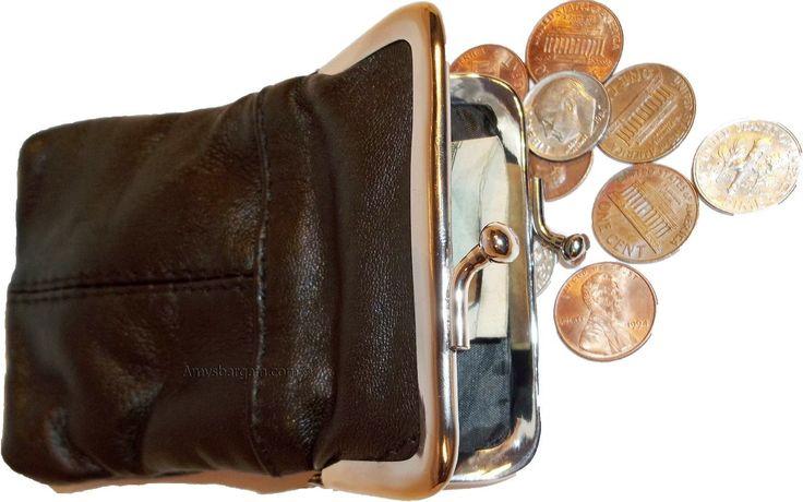 Ladies Leather Grand Change Purse Coin Bag Women'S Wallet Bag Mini Purse Nwt