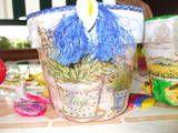 Lavoretto per la festa della mamma:vaso decorato con il decoupage