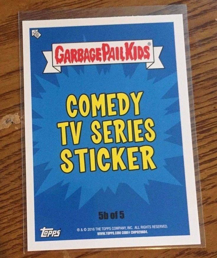 2016 Garbage Pail Kids Comedy TV Prime Slime Trashy TV You Pick Your Card GPK  #GarbagePailKids