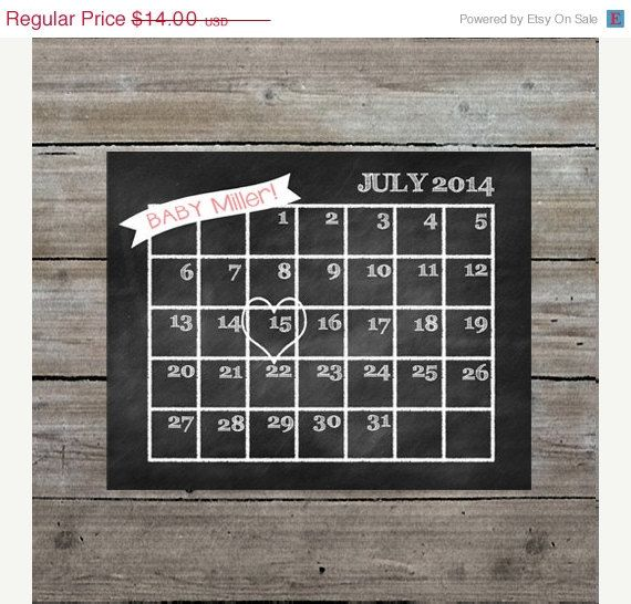 ON SALE Pregnancy prints Pregnancy announcement, baby announcement, baby due date calendar, chalkboard printable, photo prop