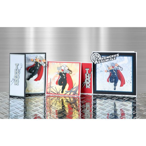 Marvel Avengers Hulk, Thor, Iron Man and Captain America Ranges with Colourful Creations Paper Pad No Colour