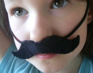 DIY felt mustaches
