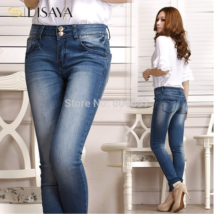Plus Size L-6XL waist 42 inches Jeans for Woman Fashion New Spring Autumn Style Womens Skinny Pant Lady Pencil Pants Trousers