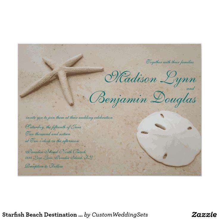 Starfish Beach Destination Wedding Invitations 45 X 625 Invitation Card