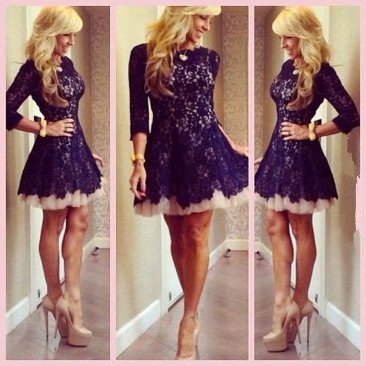 Best Selling 2014 Vestido Festa A Line Scoop Purple Lace Party Homecoming Short Dresses with Sleeves $139.99