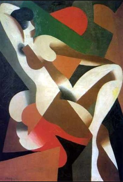 René Magritte, 1921, Donna, Brussels, Belgium (Early years Cubism).