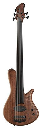 FRANZ Bass Guitars Sirius 5 Walnut Fretless...