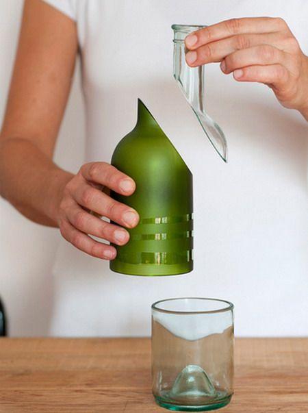 EL MUNDO DEL RECICLAJE: Recicla una botella de cristal y obtén 4 objetos