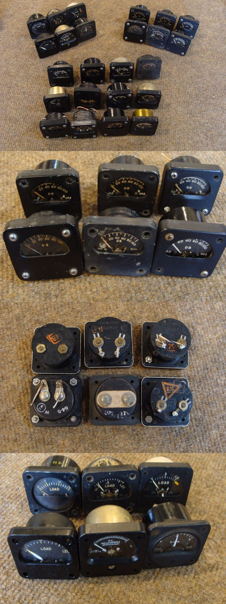 Ham Radio Receivers: Lot Of 24 Various Collins 390 A And Other Meters Vu Db Load Milliamp Used Tested BUY IT NOW ONLY: $499.95