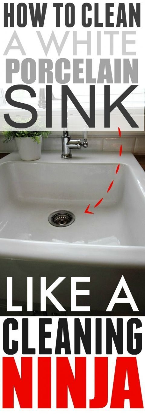 The Cleaning Ninja method for cleaning a white porcelain sink! This works better and faster than anything else I've tried!