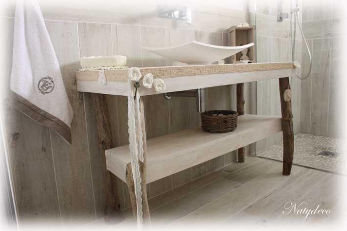 meuble de salle de bain en bois flott natydeco d coration en. Black Bedroom Furniture Sets. Home Design Ideas