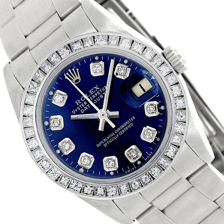 6917 Rolex Datejust Ladies Used Steel Blue Diamond Dial/Princess Diamond Bezel #Rolex #Casual