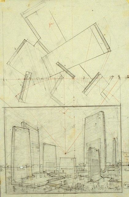 Hugh Ferriss' architectural sketches, 1915-1961 | Flickr - Photo Sharing!