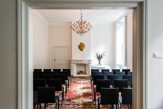 Trouwzaal Het Witte Kasteel - restauratie en renovatie onder leiding van Francine Broos Interieurarchitecten