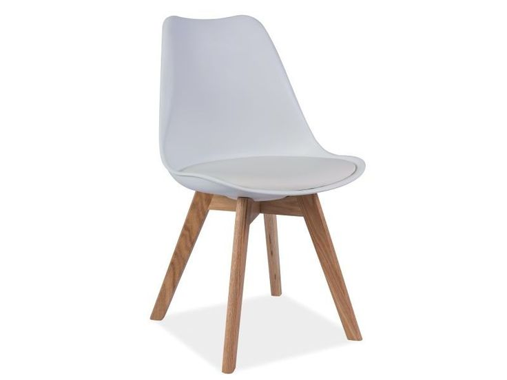 Krzesło KRIS, dąb/ biały